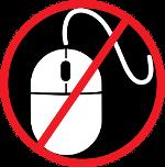 No Mouse logo, a mouse with a slash through it